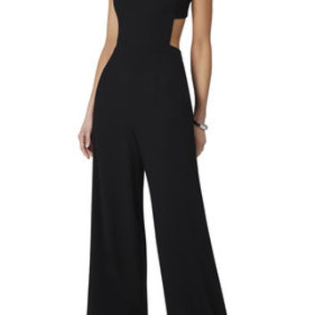 BCBG Rossana Cutout Back Jumpsuit - Black