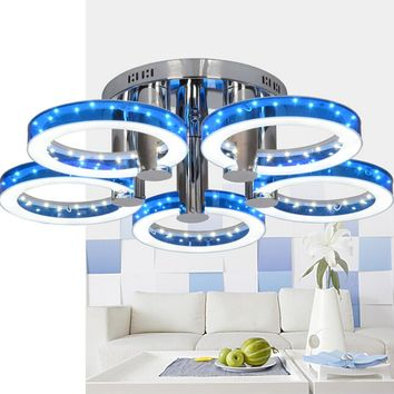 European Modern Style LED Acrylic Chandeliers Ceiling Light Lamp With 5 Lights N4025