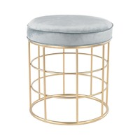 Beverly Glen Accent Stool Gold,Duck Egg Blue