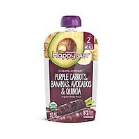 Happy Baby™ 4 oz. Stage 2 Organic Baby Food with Purple Carrots, Bananas, Avocados and Quinoa