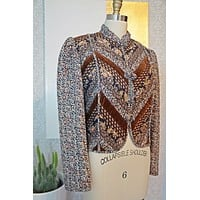 Vintage 1970s Quilted + Paisley Patchwork Jacket