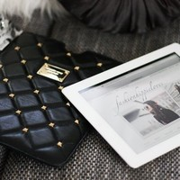 Quilted Studs Leather iPad Case by Michael Kors - $101