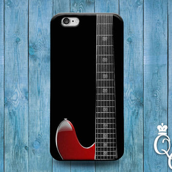 iPhone 4 4s 5 5s 5c 6 6s plus iPod Touch 4th 5th 6th Generation Cool Red Guitar Neck Black Custom Music Rock n Roll Phone Cover Cute Case