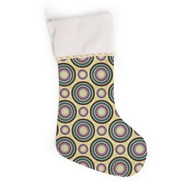 "Mydeas ""Patio Decor"" Yellow Teal Christmas Stocking"