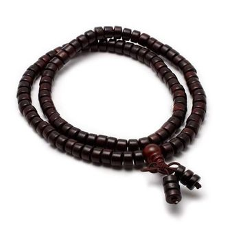 Red Sandalwood Tibetan Mala Beads