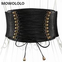 Fashion Elastic Belt for Women Bowknot Leather Wrap Around Obi Style Cinch Waistband Black Cummerbund Brown Women Belt
