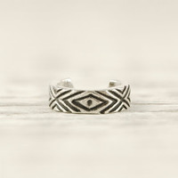 Sterling Silver Ear Cuff Earrings Aztec Evil Eye Chevron Ear Wrap Earrings Boho Jewelry - ECU006