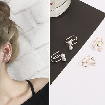 Pearl ear clip earrings accessories [10444669460]