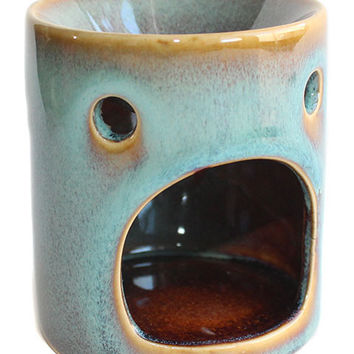 Teal Rustic Ceramic Tart Warmer