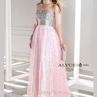 Sweetheart Beaded Bust Prom Dress By B'Dazzle 35680