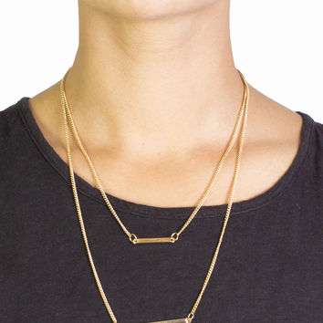 Double Line Necklace
