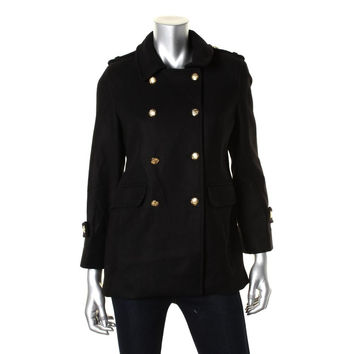 Zara Womens Wool Double-Breasted Military Coat