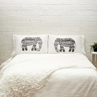 Rise and Fall Elephant Pillowcase Set