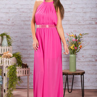 All Eyes On You Maxi Dress, Fuchsia