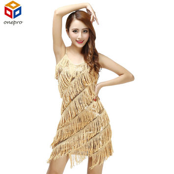 Woman flapper fringe 1920s gold vintage great gatsby sequin party dress plus size beautiful cheap dress summer slip sexy dress