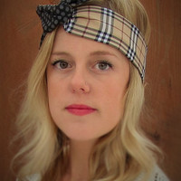REVERSIBLE handmade dolly bow wrap headband. with wire. teacher gift BEST SELLER