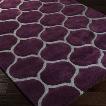 Mamba Area Rug | Purple Geometric Rugs Hand Tufted | Style MBA9021