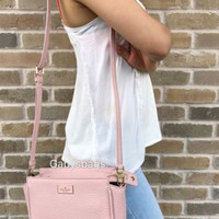 NWT Kate Spade Prospect Place Mini Hayden Crossbody Pink Bonnet Pebbled Leather