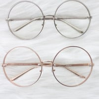 Final Sale - Oversized Round Clear Lens Glasses