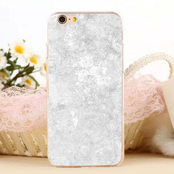 Beige Marble Stone Protect iPhone 5s 6 6s Plus creative case + Gift Box-131