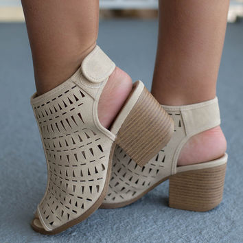 Warm Welcome Taupe Distressed Bootie