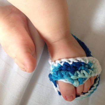 baby boy flip flops.sandals,handmade baby shoes,blue