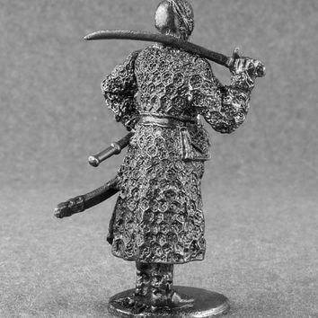 Ukrainian 1/32 Scale Cossack Colonel Historical Unpainted Small Soldier Toys 54mm Tin Metal Miniature Antique Action Figurine Free Shipping