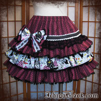 Dark Alice in Wonderland skirt