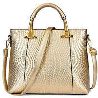 Trendy Woven Pattern And Embossing Design Women'S Tote Bag LAVELIQ