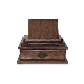 Oak Leaf Tablet Stand/ Valet Box