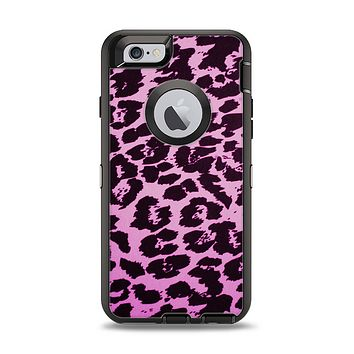 The Hot Pink Vector Leopard Print Apple iPhone 6 Otterbox Defender Case Skin Set