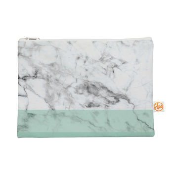 "KESS Original ""Mint Marble Fade"" White Green Everything Bag"