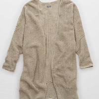 Aerie Cozy Sweater Cardi , Oatmeal Heather