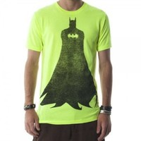 Batman Silhouette Mens Neon Yellow Tee