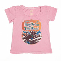 Bob Dylan and the Band Ticket Stub Women's Crew - Rose