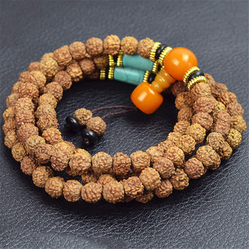 100% Handmade Natural Plant Seeds Bead Necklace Precious Bracelet Unique Gift Bracelet-Necklace-31