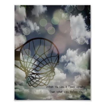Motivational Netball Picture Quote Poster