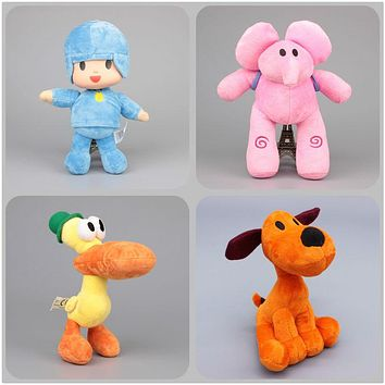 High Quality 4 Styles Pocoyo Elly & Pato & POCOYO & Loula Stuffed Plush Toys Brinquedos Children Soft Toys