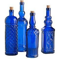 Pier 1 Imports - Product Details - Assorted Cobalt Glass Bottles