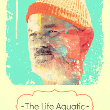 ZZZZ (Bill Murray as Steve Zissou from The Life Aquatic) - Digital Art Print - MULTIPLE SiZES AVAiLABLE