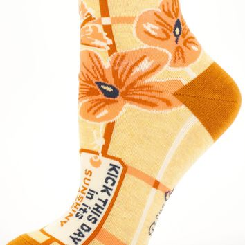 Kick This Day In Its Sunshiny Ass Women's Ankle Socks