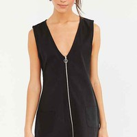 Motel Cambric Zip-Front Shift Dress