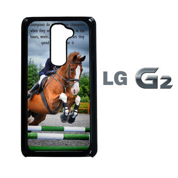 horse jumping photography Y2410 LG G2  Case