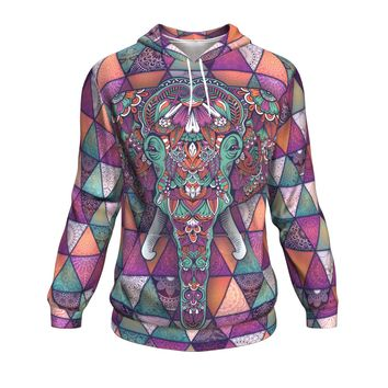 Hoodie All-Over 15th design Mandala Elephant