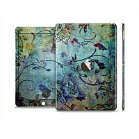 The Grungy Dark Black Branch Pattern Skin Set for the Apple iPad Air 2