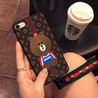 7 Apple 6s mobile phone case iphone6plus full package border defense female silicone gel new gucci