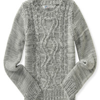 PS from Aero  Kids' Cable Knit Crew Neck Sweater