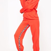Red Prettylittlething Branded Joggers