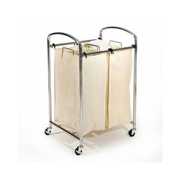 2 Bag Laundry Sorter Chrome