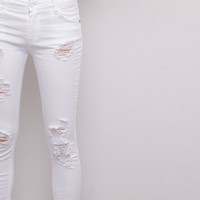 RIPPED SKINNY JEANS - NEW PRODUCTS - NEW PRODUCTS - WOMAN - PULL&BEAR United Kingdom